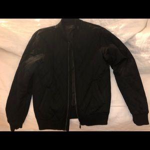 Men's Zara Quilted Bomber Jacket
